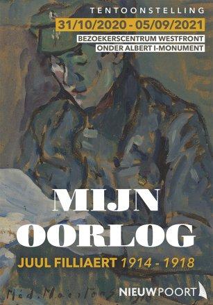 Affiche Mijn oorlog, boek van Luc Filliaert over Juul Filliaert