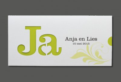 voorbeeld huwelijkskaart