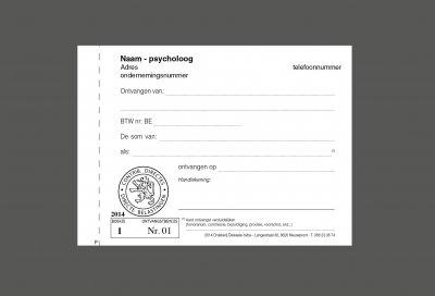 voorbeeld ontvangstbewijs psycholoog, vrije beroepen